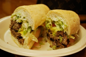 cheeseburger poboy