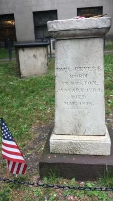 Paul Revere grave, Boston