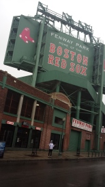 Rained out at Fenway Park