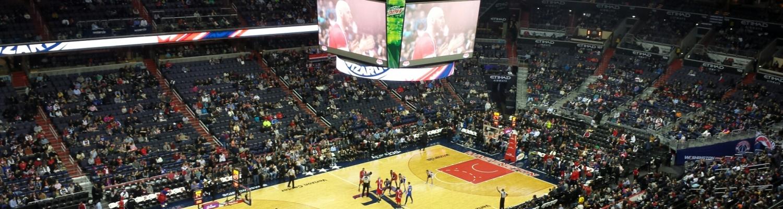 Wizards vs 76ers, Verizon Center, DC