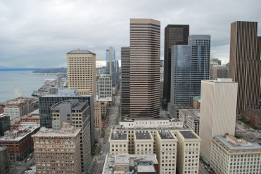 View from Smith Tower, Pioneer Square, Seattle